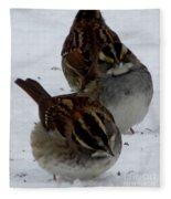 3 Sparrows Fleece Blanket