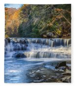 Squaw Rock - Chagrin River Falls Fleece Blanket
