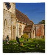 St Marys Church Kintbury Fleece Blanket