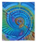 Stairway To Lighthouse Heaven Fleece Blanket
