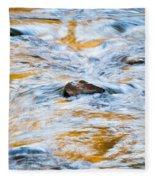 Stream Great Smoky Mountains Painted Fleece Blanket