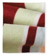 Striped Material Fleece Blanket