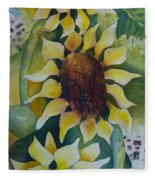 3 Sunflowers Fleece Blanket