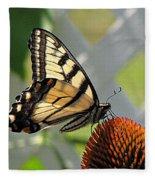 Swallowtail On Coneflower Fleece Blanket