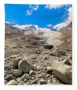 Swiss Mountains Fleece Blanket