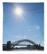 Sydney Harbour Bridge In Australia  Fleece Blanket