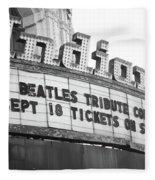 Terre Haute - Indiana Theater Fleece Blanket