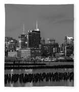 The Empire State Building Pastels Fleece Blanket