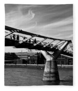 The Millenium Bridge Fleece Blanket
