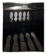 The River Thames At Hampton Court London Fleece Blanket