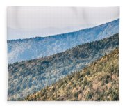 The Simple Layers Of The Smokies At Sunset - Smoky Mountain Nat. Fleece Blanket