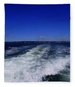 The Wake Of The Island Queen Fleece Blanket