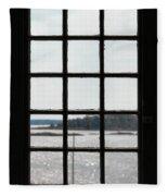 Through An Old Window Fleece Blanket
