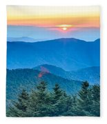 Top Of Mount Mitchell Before Sunset Fleece Blanket
