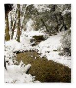 Trees In Snow Fleece Blanket