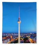 Tv Tower Or Fersehturm In Berlin Fleece Blanket