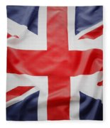 Uk Flag Fleece Blanket