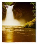 Upper Punch Bowl Falls Fleece Blanket