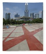 View From Peoples Park, Shanghai Fleece Blanket