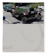 Vintage Cars Fleece Blanket