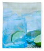 Water In Blue Fleece Blanket