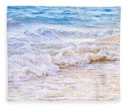 Waves Breaking On Tropical Shore Fleece Blanket