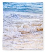 Waves Breaking On Tropical Shore Fleece Blanket