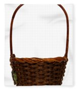 Wicker Basket Number Ten Fleece Blanket