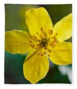 Yellow Wood Anemone Fleece Blanket
