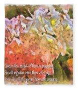 Zephaniah 3 17 Fleece Blanket