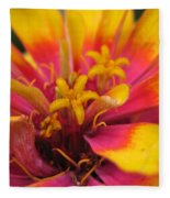 Zinnia Named Swizzle Scarlet And Yellow Fleece Blanket