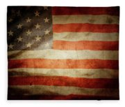 American Flag Rippled Fleece Blanket