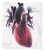 Heart Anatomy Fleece Blanket