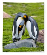 King Penguin Fleece Blanket