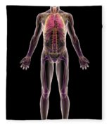 The Respiratory System Fleece Blanket