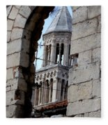 Views Of Split Croatia Fleece Blanket