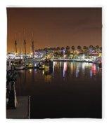 Long Beach Marina- California Fleece Blanket