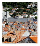 Views Of Dubrovnik Croatia Fleece Blanket