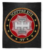 31st Degree - Inspector Inquisitor Jewel On Black Leather Fleece Blanket