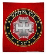 31st Degree - Inspector Inquisitor Jewel On Red Leather Fleece Blanket