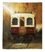 321 Antique Passenger Train Car Textured Fleece Blanket