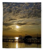 An Outer Banks Of North Carolina Sunset Fleece Blanket