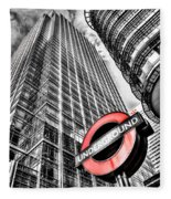 Canary Wharf London Fleece Blanket