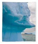 Iceberg, Antarctica Fleece Blanket