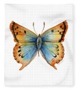 33 Opal Copper Butterfly Fleece Blanket