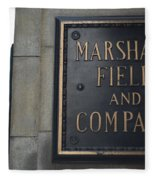 Marshall Field's Store Fleece Blanket