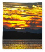 333 Marine Sunrise Fleece Blanket