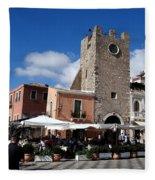 Views Of Taormina Sicily Fleece Blanket