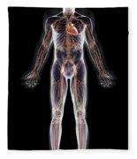 The Cardiovascular System Fleece Blanket