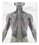 Bones Of The Upper Body Fleece Blanket